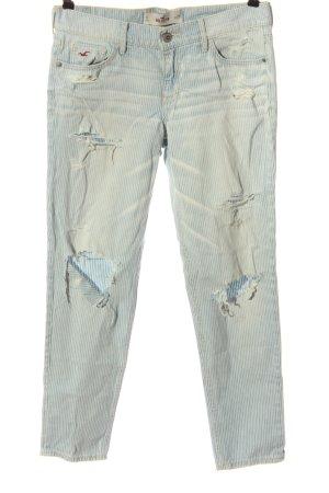 Hollister Jeansy z prostymi nogawkami niebieski-biały Wzór w paski