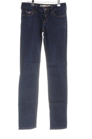 Hollister Jeansy z prostymi nogawkami ciemnoniebieski W stylu casual