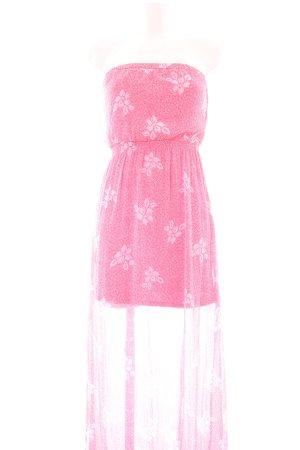 Hollister Strandkleid pink Allover-Druck Casual-Look