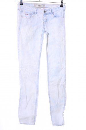 Hollister Stretch jeans blauw-wit casual uitstraling
