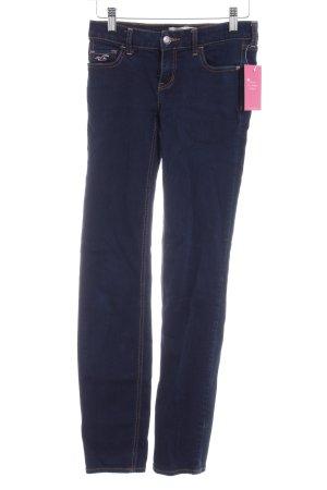Hollister Stretch Jeans dunkelblau Casual-Look