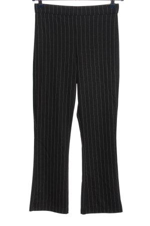 Hollister Stretchhose schwarz-weiß Streifenmuster Business-Look