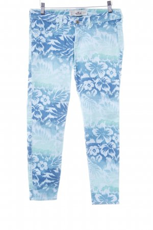 Hollister Stretchhose Blumenmuster Casual-Look