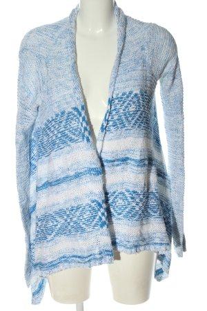 Hollister Strick Cardigan blau-weiß Casual-Look