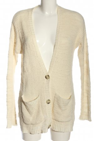 Hollister Strick Cardigan creme Zopfmuster Casual-Look