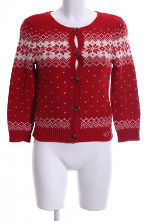 Hollister Norwegian Cardigan red-white mixture fibre