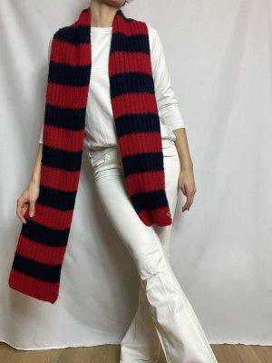 Hollister Knitted Scarf red-dark blue