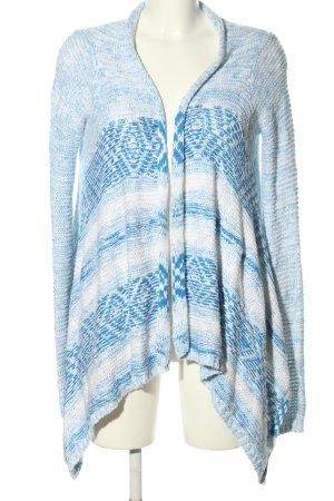 Hollister Strickjacke blau-weiß meliert Casual-Look
