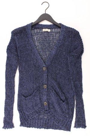 Hollister Strickjacke Größe XS Langarm blau aus Baumwolle