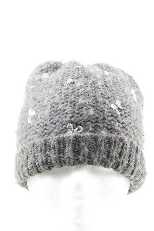 Hollister Chapeau en tricot gris clair torsades style décontracté