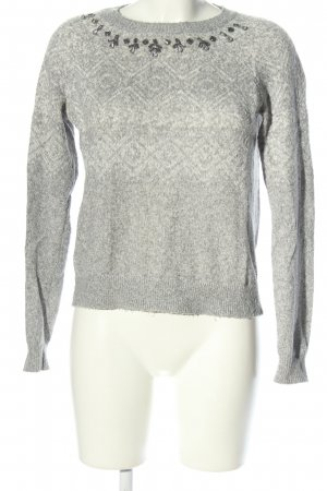 Hollister Knitted Sweater light grey flecked casual look