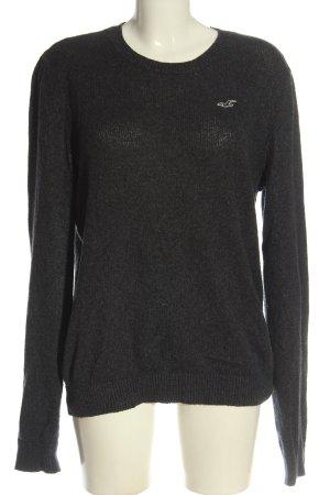 Hollister Sweter z dzianiny jasnoszary Melanżowy W stylu casual