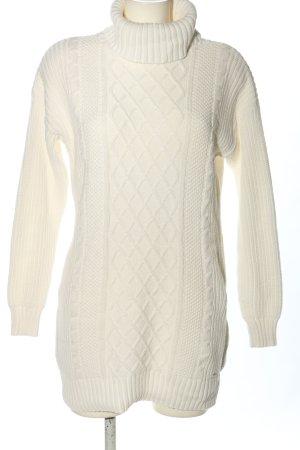 Hollister Pull tricoté blanc torsades style décontracté