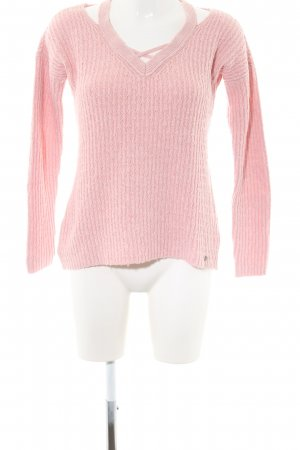 Hollister Strickpullover pink Zopfmuster Casual-Look