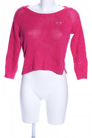 Hollister Strickpullover pink Casual-Look
