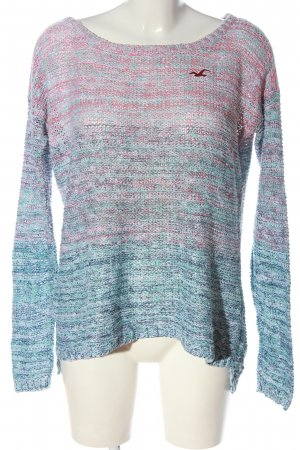 Hollister Knitted Sweater blue-pink color gradient casual look