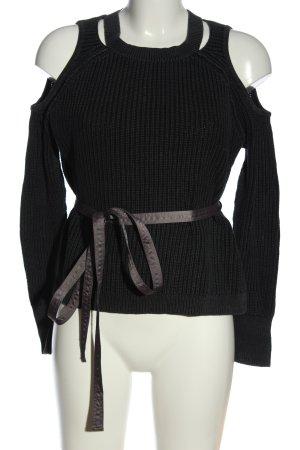 Hollister Jersey de punto negro look casual
