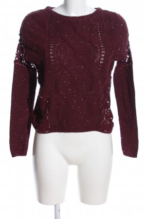 Hollister Strickpullover rot Casual-Look