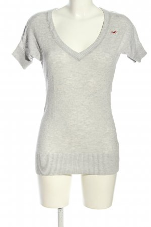 Hollister Knitted Jumper light grey flecked casual look