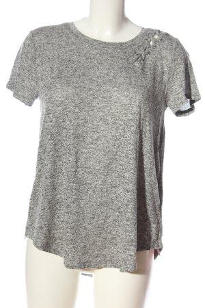 Hollister Camicia maglia grigio chiaro puntinato stile casual