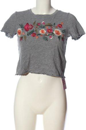 Hollister T-shirts en mailles tricotées motif de fleur style décontracté
