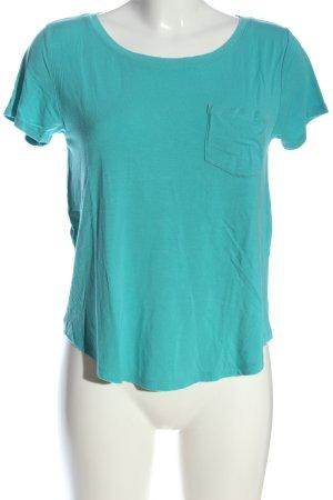 Hollister T-shirts en mailles tricotées turquoise style décontracté
