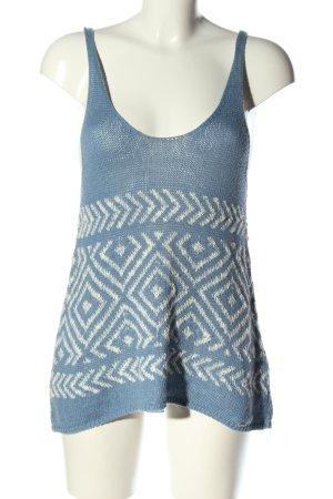 Hollister Stricktop blau-weiß grafisches Muster Casual-Look