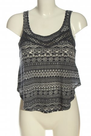 Hollister Knitted Top black-natural white allover print casual look