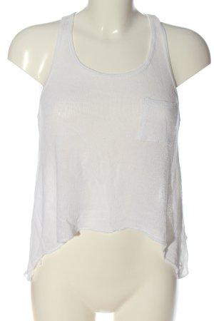 Hollister Gebreide top wit casual uitstraling
