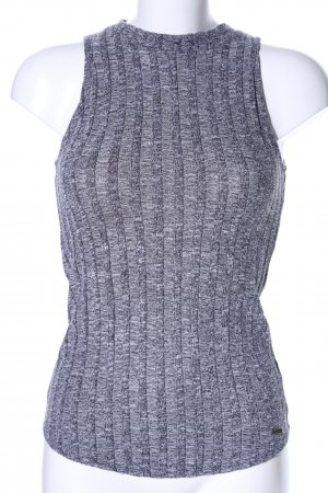 Hollister Knitted Top light grey flecked casual look