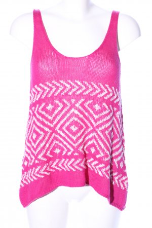 Hollister Knitted Top pink-white graphic pattern casual look