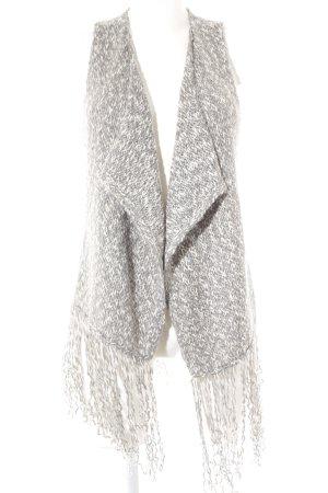 Hollister Strickweste weiß-grau meliert Casual-Look