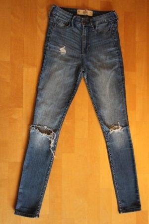 Hollister Hoge taille jeans blauw Gemengd weefsel