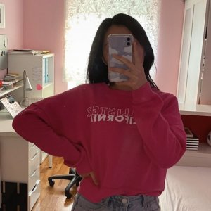 hollister sweater pullover pink rosa XS girly vintage