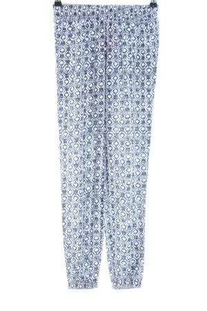 Hollister Pantalon de jogging bleu-blanc imprimé allover style décontracté
