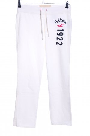 Hollister Sweat Pants white embroidered lettering athletic style