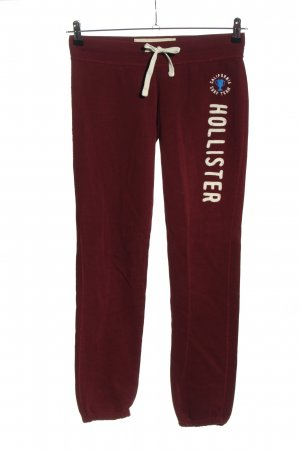 Hollister Sweat Pants red-white printed lettering athletic style