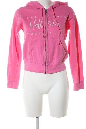 Hollister Veste sweat rose lettrage imprimé style décontracté