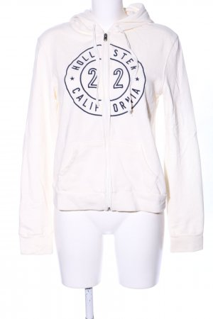 Hollister Sweat Jacket natural white printed lettering casual look
