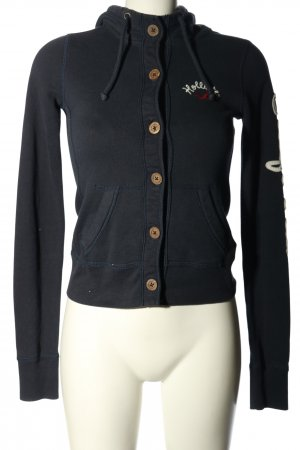 Hollister Sweatjacke Motivdruck Casual-Look