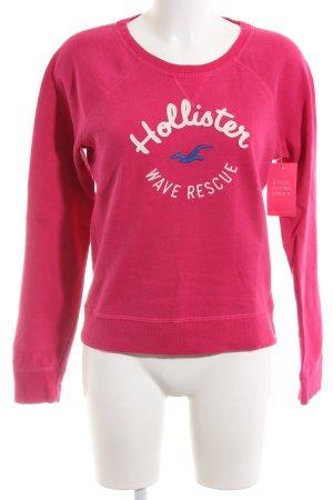Hollister Sweatshirt rose imprimé avec thème style décontracté
