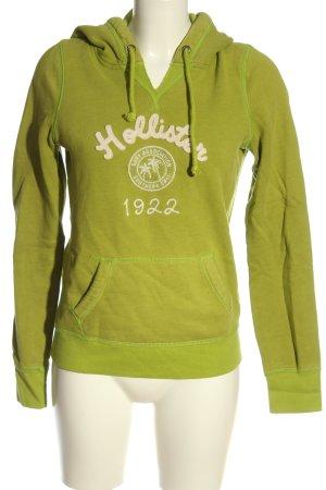 Hollister Sweatshirt grün Schriftzug gedruckt Casual-Look