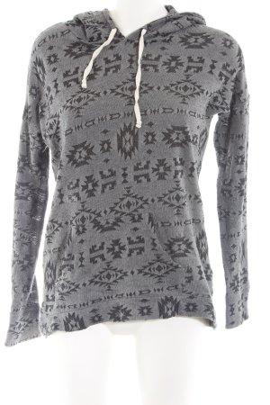 Hollister Sweatshirt silberfarben-schwarz Allover-Druck Casual-Look