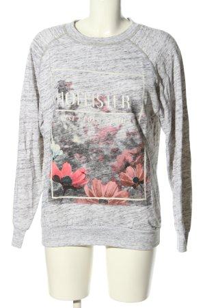 Hollister Sweatshirt hellgrau meliert Casual-Look