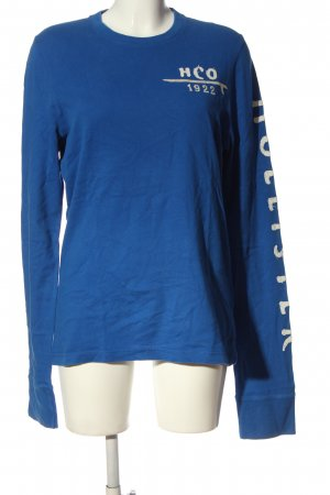 Hollister Sweatshirt blau-weiß Casual-Look