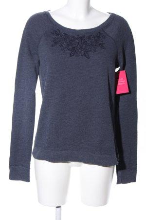 Hollister Sweatshirt blau Blumenmuster Casual-Look