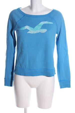 Hollister Sweatshirt blau Motivdruck Casual-Look