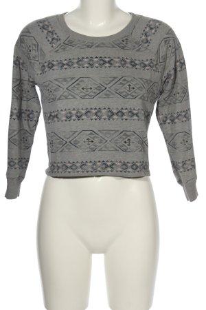 Hollister Sweatshirt Allover-Druck Casual-Look