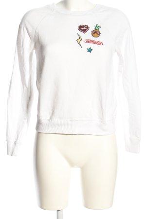 Hollister Sweatshirt weiß Motivdruck Casual-Look