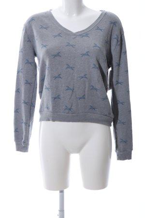 Hollister Sweatshirt blau-hellgrau Allover-Druck Casual-Look